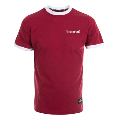 T-shirt Pretorian Small Logo - burgundy