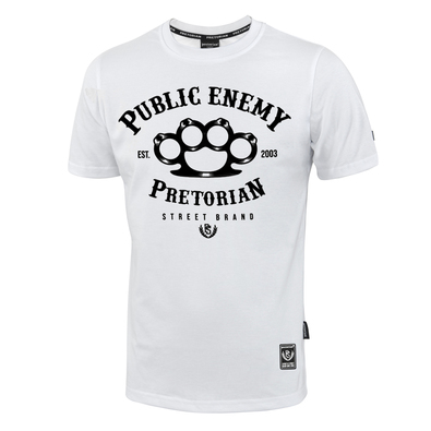 T-shirt Pretorian Public Enemy - white